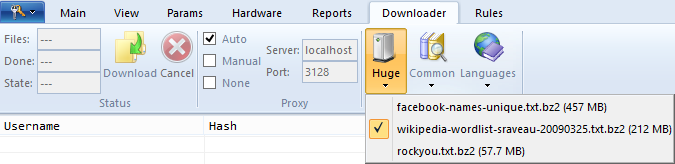 Downloader Tab