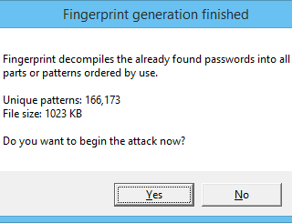 Fingerprint generation